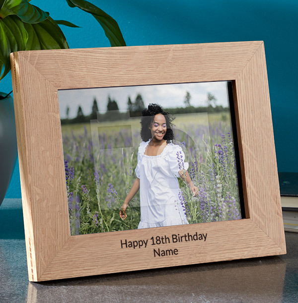 18th Birthday Personalised Wooden Photo Frame - Landscape
