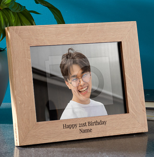 21st Birthday Personalised Wooden Photo Frame - Landscape