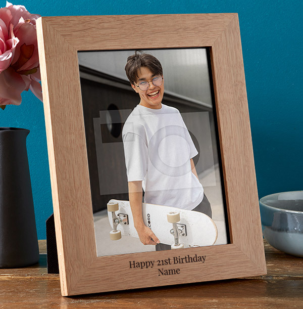 21st Birthday Personalised Wooden Photo Frame - Portrait