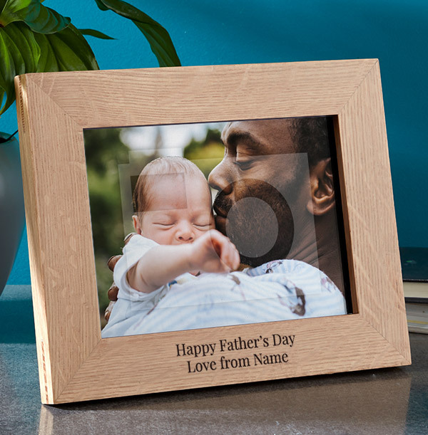 Father's Day Personalised Wooden Photo Frame - Landscape
