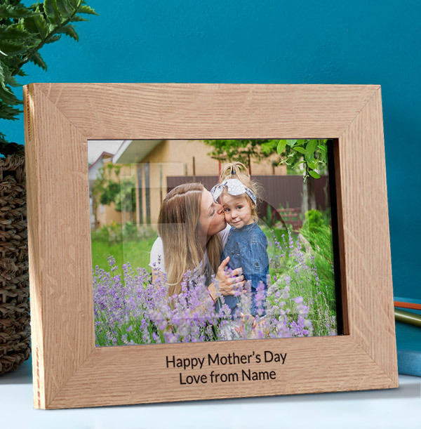 Mother's Day Personalised Wooden Photo Frame - Landscape