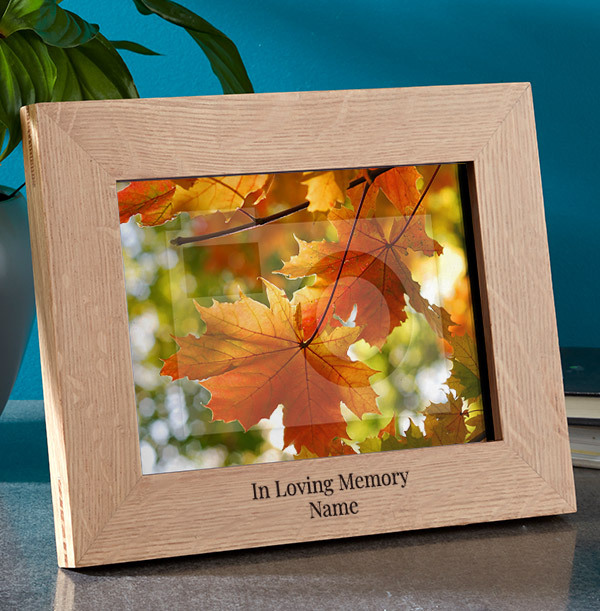 Memorial Personalised Wooden Photo Frame - Landscape