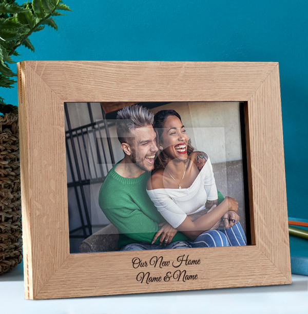 New Home Personalised Wooden Photo Frame - Landscape