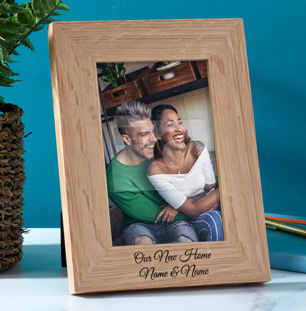 New Home Personalised Wooden Photo Frame - Portrait