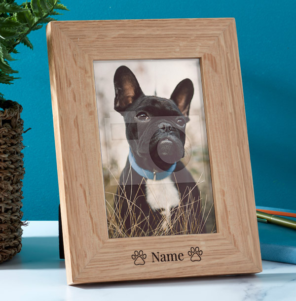 Pet Personalised Wooden Photo Frame - Portrait