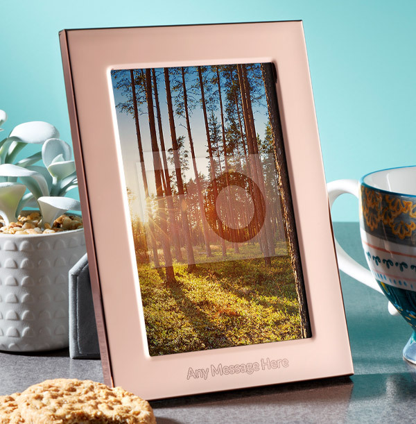 Any Text Personalised Metal Photo Frame - Portrait