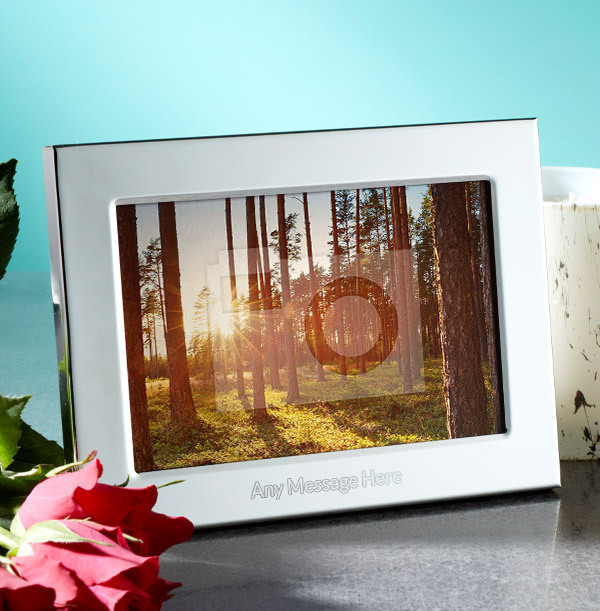 Any Text Personalised Metal Photo Frame - Landscape