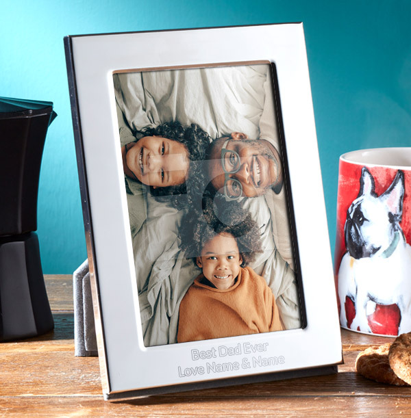Best Dad Ever Personalised Metal Photo Frame - Portrait