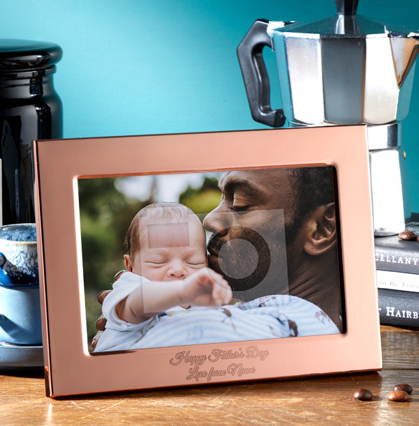 Father's Day Personalised Metal Photo Frame - Landscape