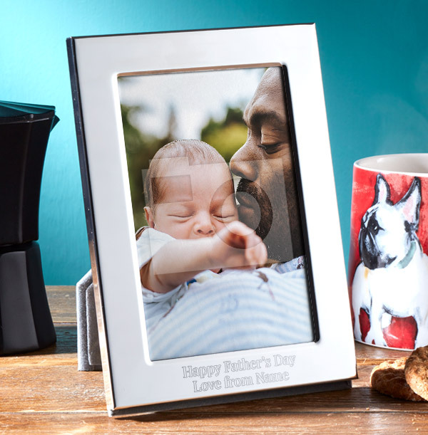 Father's Day Personalised Metal Photo Frame - Portrait