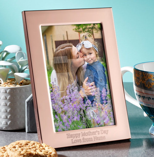 Mother's Day Personalised Metal Photo Frame - Portrait