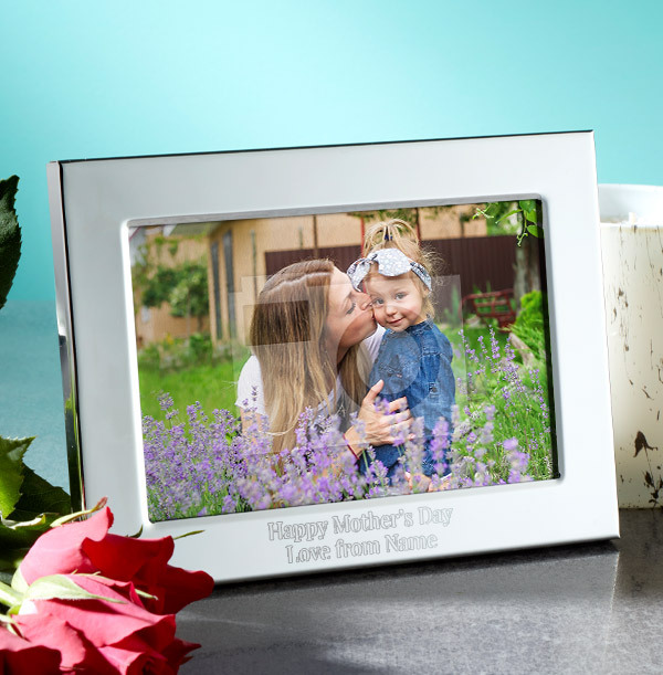 Mother's Day Personalised Metal Photo Frame - Landscape