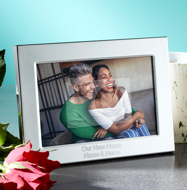 New Home Personalised Metal Photo Frame - Landscape
