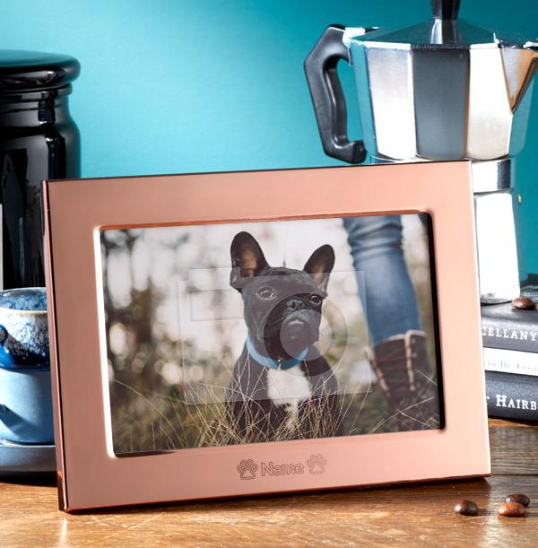 Pet Personalised Metal Photo Frame - Landscape