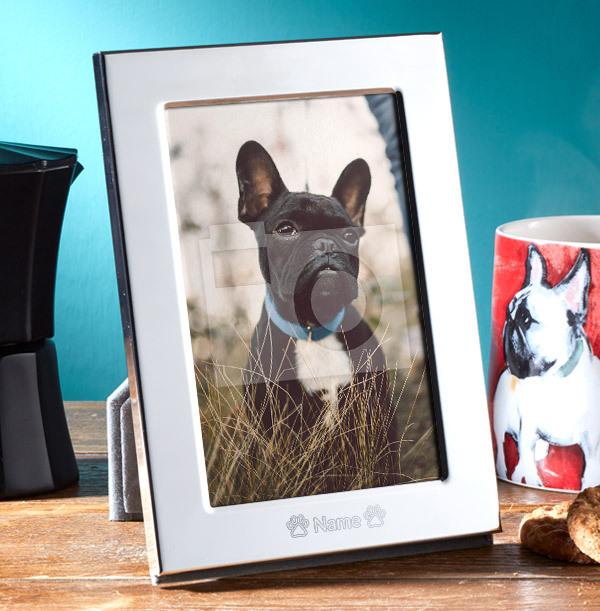 Pet Personalised Metal Photo Frame - Portrait