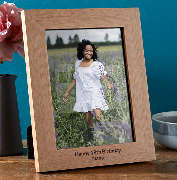 18th Birthday Personalised Wooden Photo Frame - Portrait