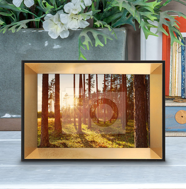 Black & Gold Photo Frame - Landscape