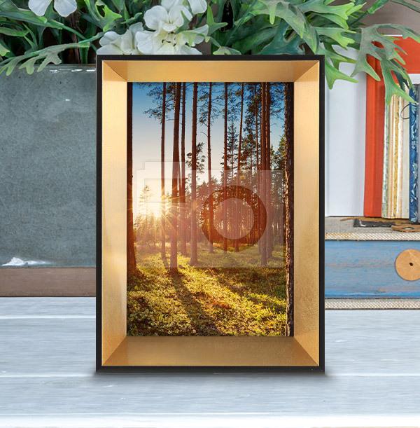 Black & Gold Photo Frame - Portrait