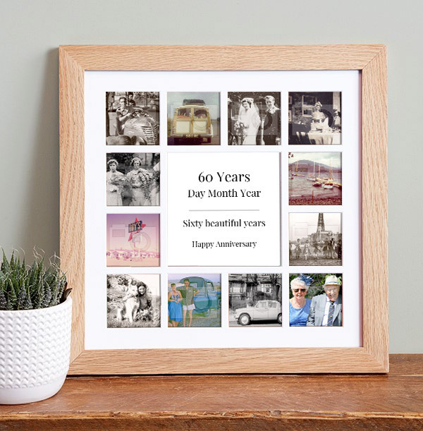 Anniversary Photo Collage Frame