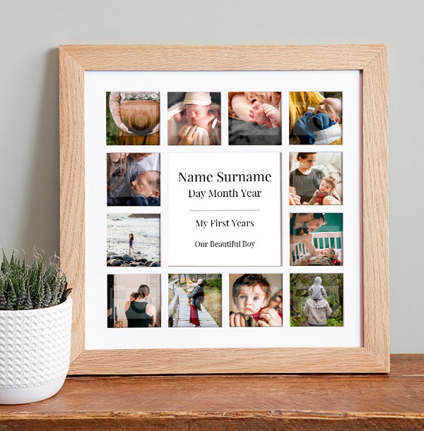 New Baby Photo Collage Frame