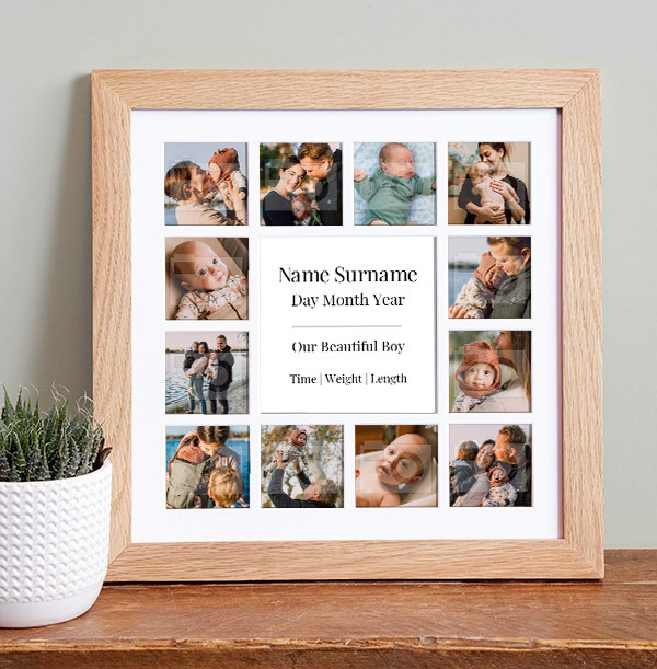 Baby Boy Photo Collage Frame
