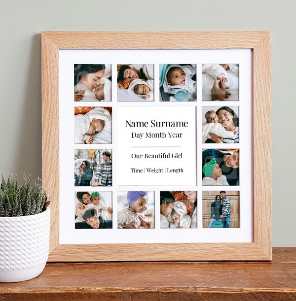 Baby Girl Photo Collage Frame