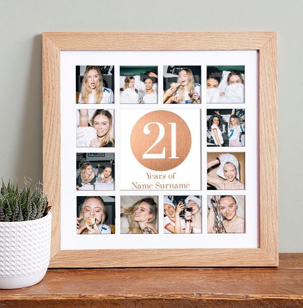 21st Birthday Collage Frame