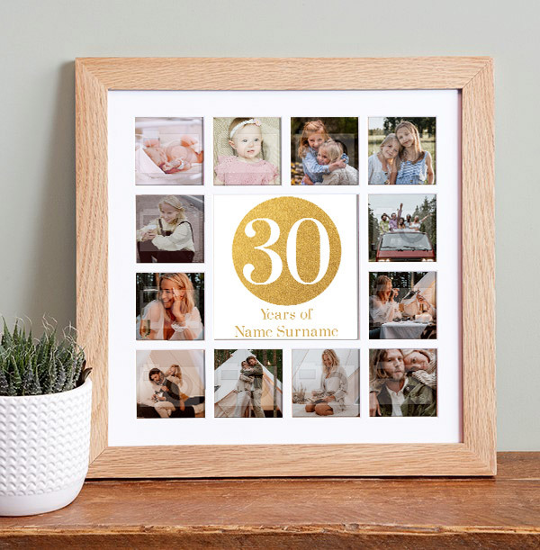 30th Birthday Photo Collage Frame