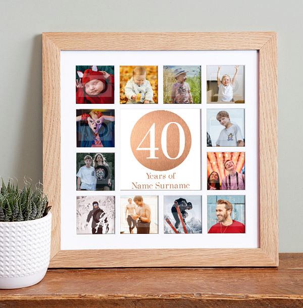 40th Birthday Photo Collage Frame