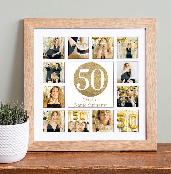 50th Birthday Photo Collage Frame
