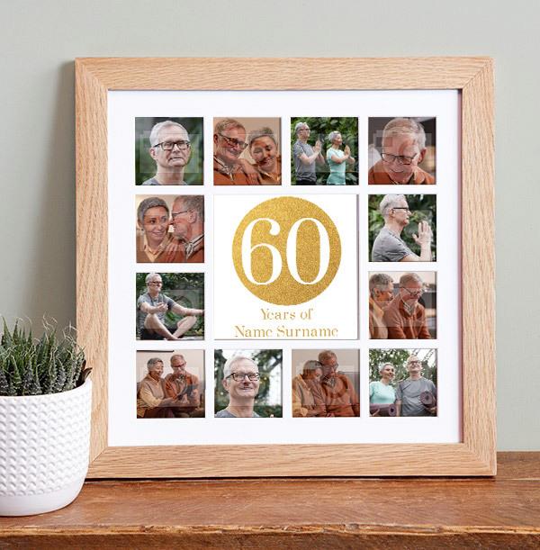 60th Birthday Photo Collage Frame