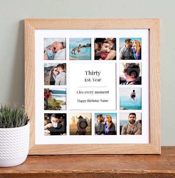 Birthday Photo Collage Frame