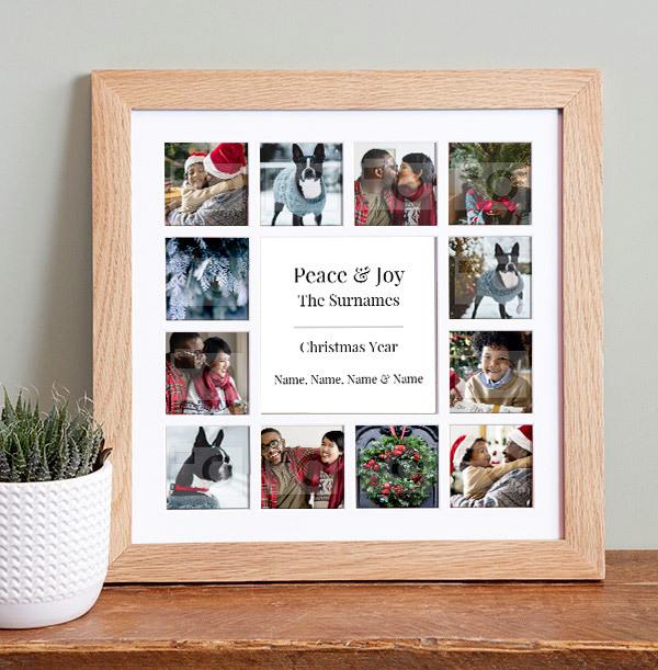 Christmas Photo Collage Frame