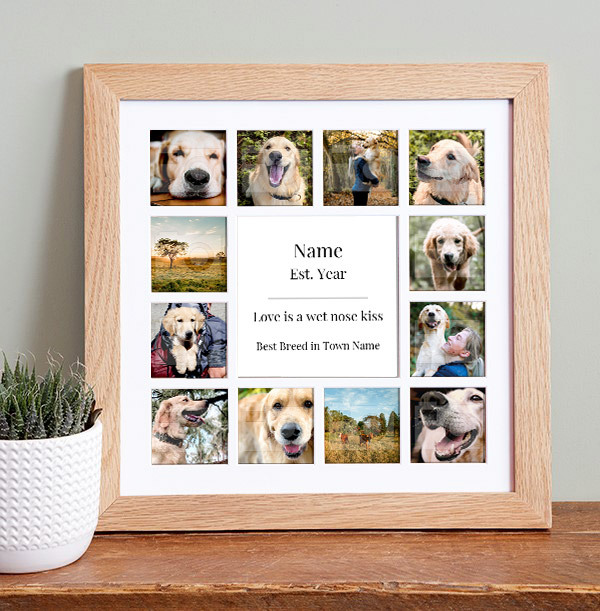 Dog Photo Collage Frame