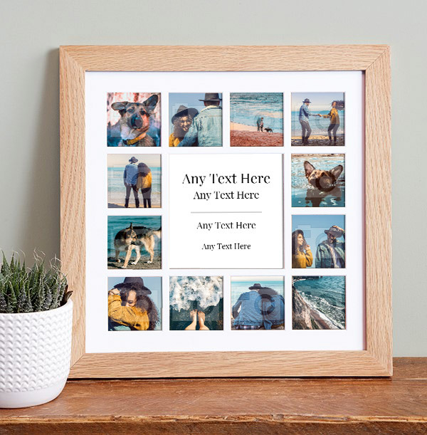 Any Text Photo Collage Frame