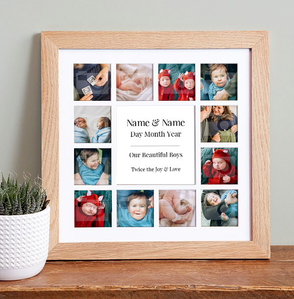 Baby Twins Photo Collage Frame