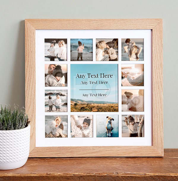 Any Text & Extra Image Collage Frame