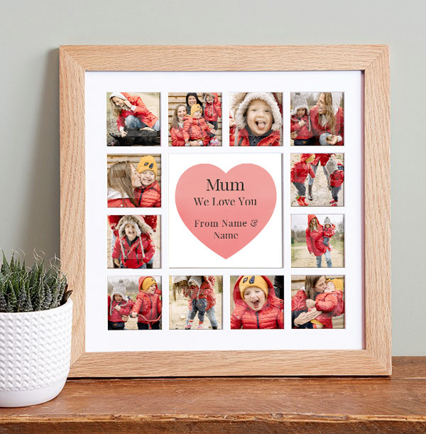 Mum on Mother's Day Photo Collage Frame