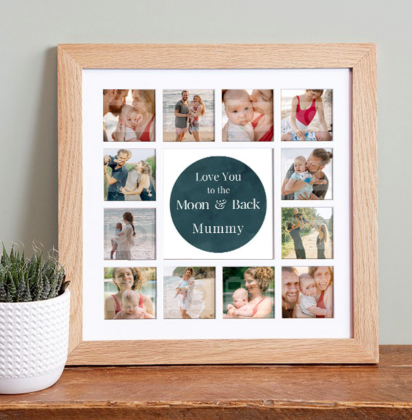 Mummy To the Moon and Back Photo Collage Frame