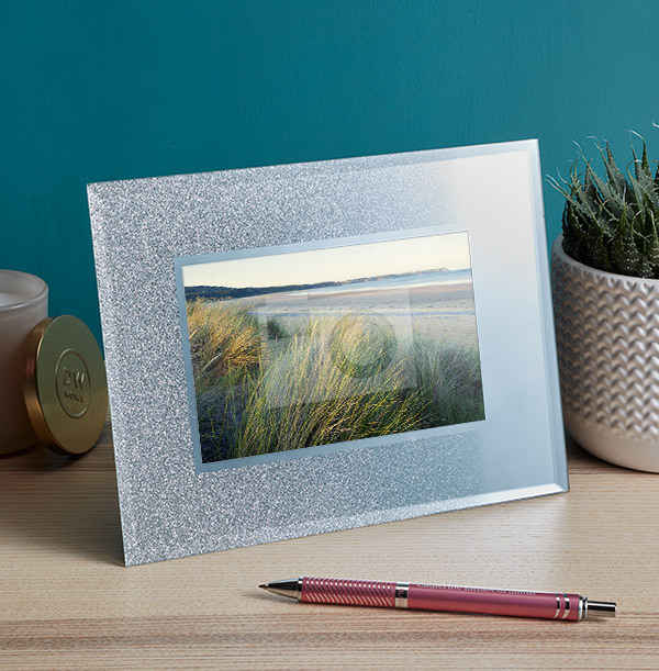 Glitter Mirror Photo Frame - Landscape