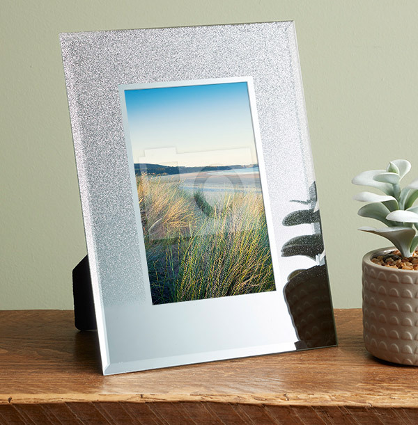 Glitter Mirror Photo Frame - Portrait
