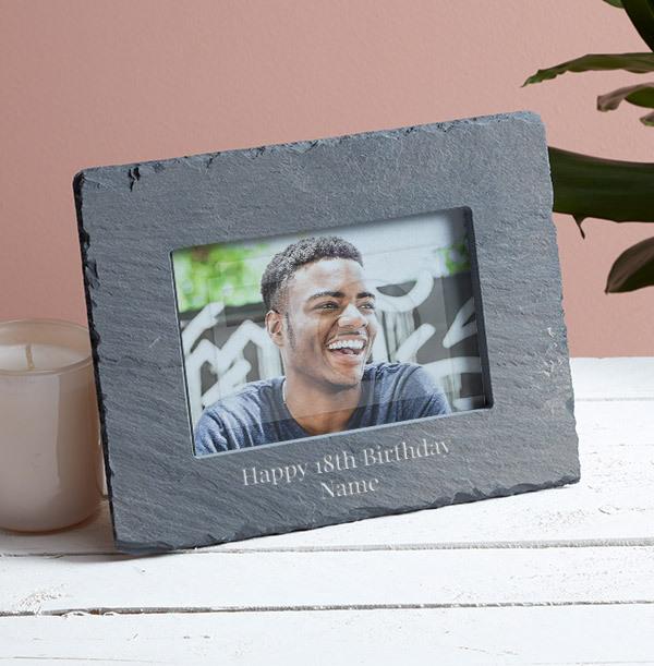 18th Birthday Personalised Slate Photo Frame - Landscape