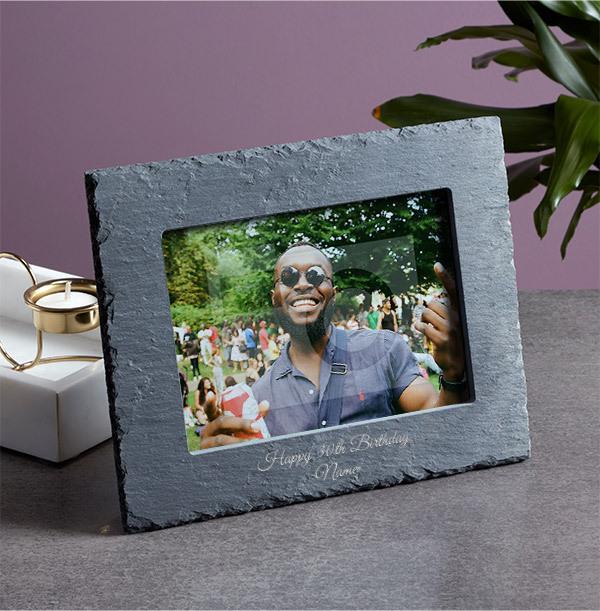 30th Birthday Personalised Slate Photo Frame - Landscape