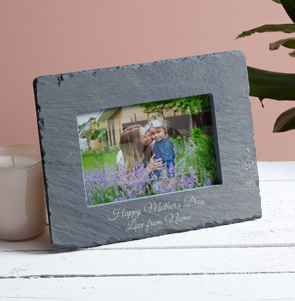 Mother's Day Personalised Slate Photo Frame - Landscape