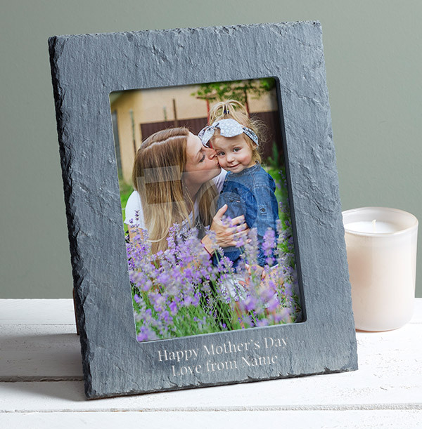 Mother's Day Personalised Slate Photo Frame - Portrait