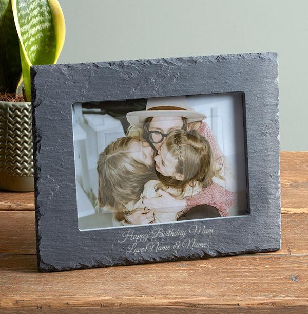 Happy Birthday Mum Personalised Slate Frame - Landscape