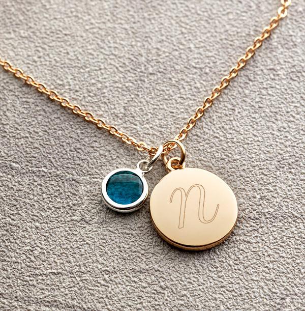 Initial Birthstone Bracelet - Personalised