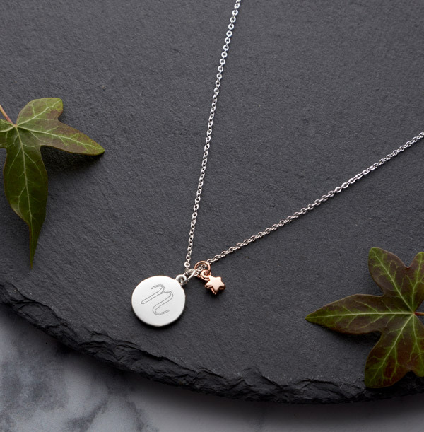 Initial Star Charm Necklace - Personalised