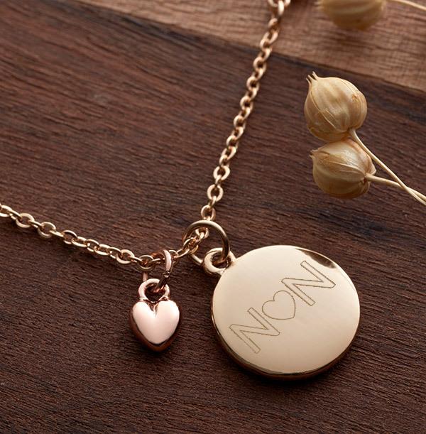 Heart Initials Heart Charm Bracelet - Personalised