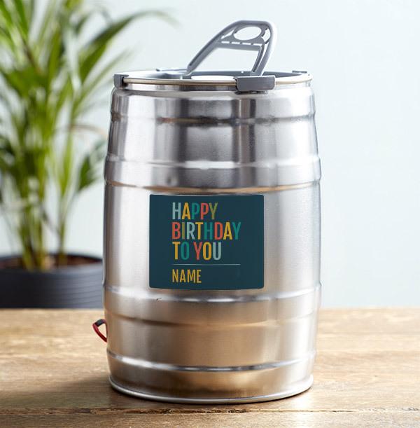 Happy Birthday Personalised Keg West Coast IPA 5L
